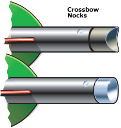crossbow arrow nocks