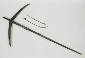 Crossbow from Gabon, Africa. Part of the Pitt Rivers Museum Founding Collection. Given to the Museum in 1884. Image credit: Pitt Rivers Museum